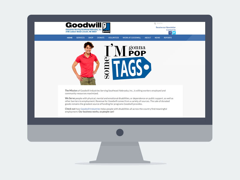 Lincoln NE Web Design and Development - goodwill