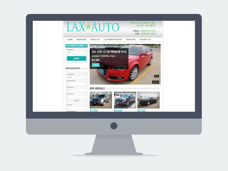 Lincoln NE Web Design and Development - laxauto-768x576
