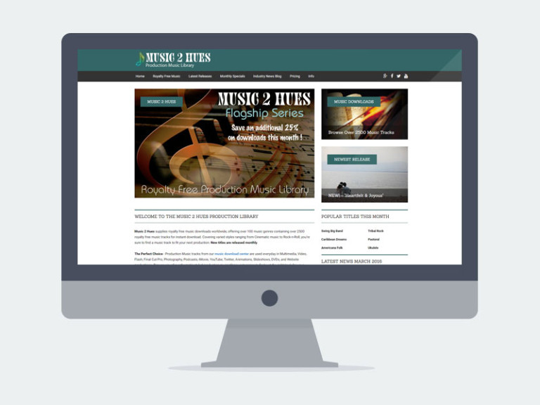 Lincoln NE Web Design and Development - music2hues-768x576