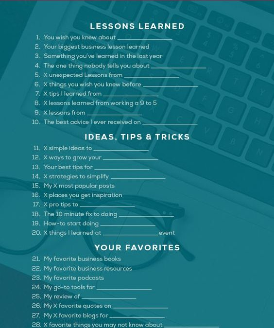 52 Amazing Blog Post Ideas Your Readers Won't be Able to Resist